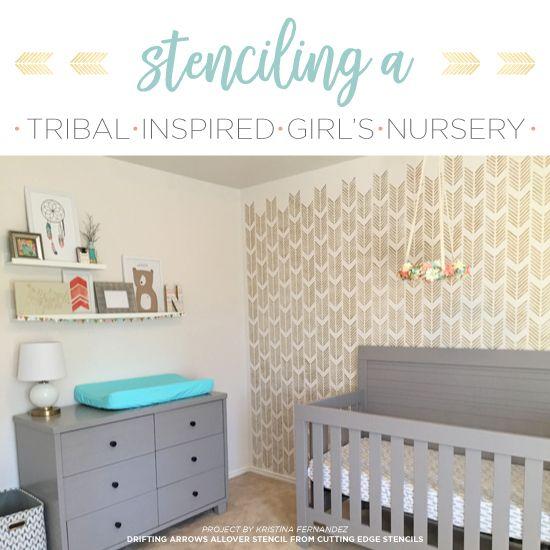 wallpaper accent wall nursery