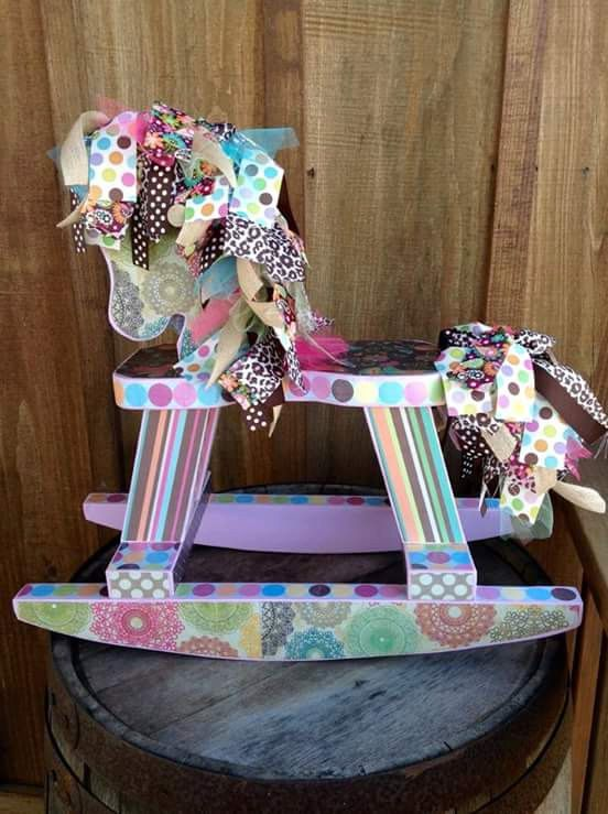 Custom handmade rocking horses on Etsy listing at https://www.etsy.com/listing/215692166/handmade-wooden-rocking-horse-baby-girl