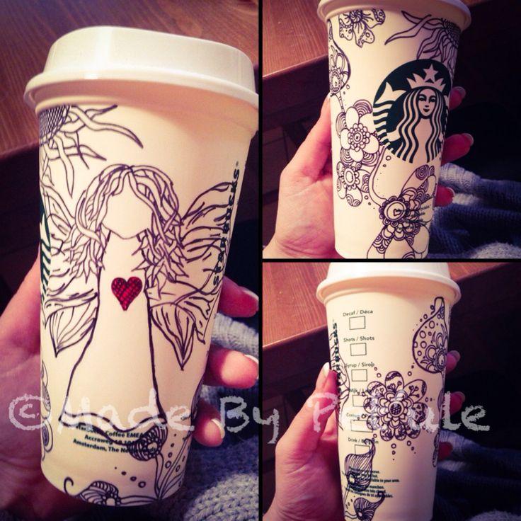 Angel cup (zentangle) Made By Peťule