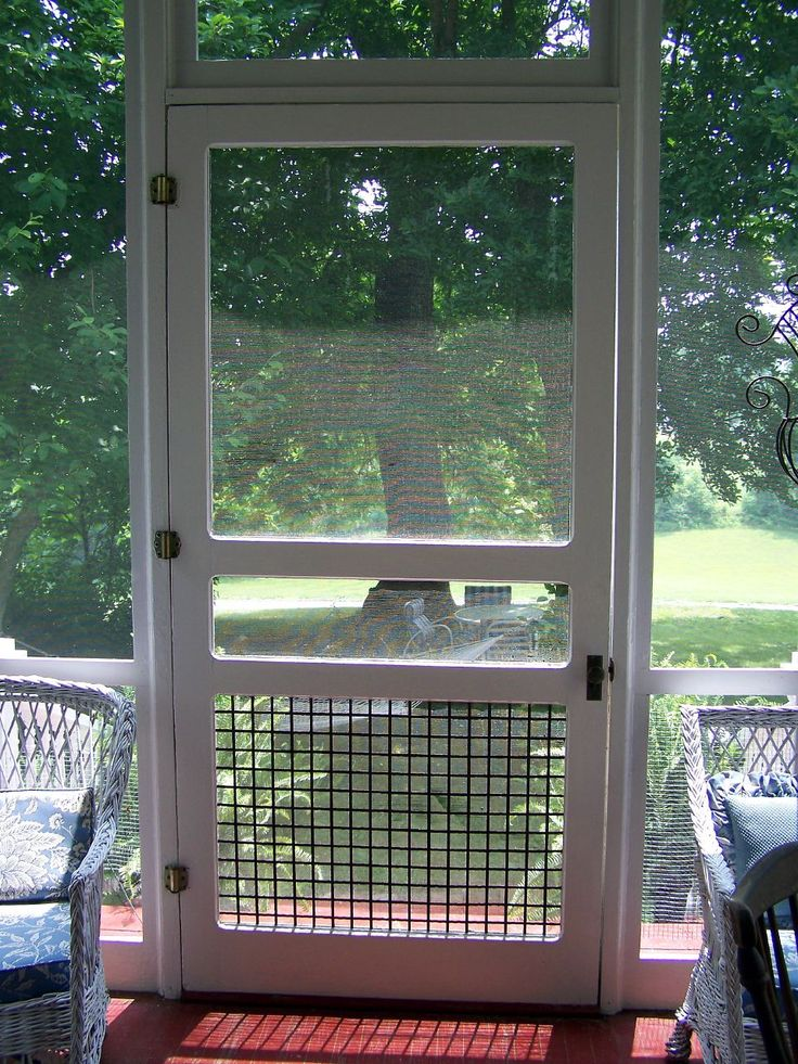 Screened porch ideas on pinterest 57 pins for Front door not centered