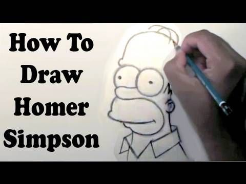 How To Draw Homer Simpson - YouTube
