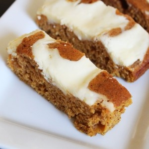 Swirled Pumpkin Cream Cheese Bars