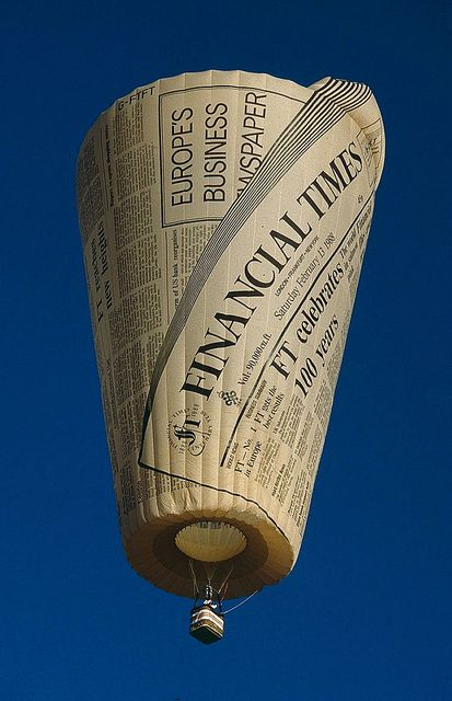 """""""Colt SS Financial Times G-FTFT"""" The Financial Times newspaper was commissioned in 1988 to help celebrate the papers centenary. Each character on the balloon was hand painted. Original on slide. By spixpix"""