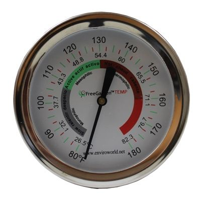 Enviro World EWC-32 FreeGarden Temp Compost Thermometer