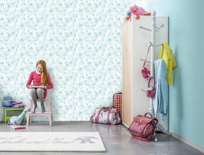 #wallpaper #grandeco #tapety #detske #jack #julie Nadherná tapeta modrej farby Jack 'n Rose http://www.studiobyvania.sk/jnr05-06-05g/p999804