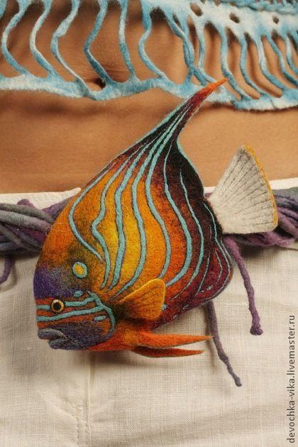 """Заколки ручной работы. Ярмарка Мастеров - ручная работа """"Рыба """"Большой ангел"""". Handmade."""