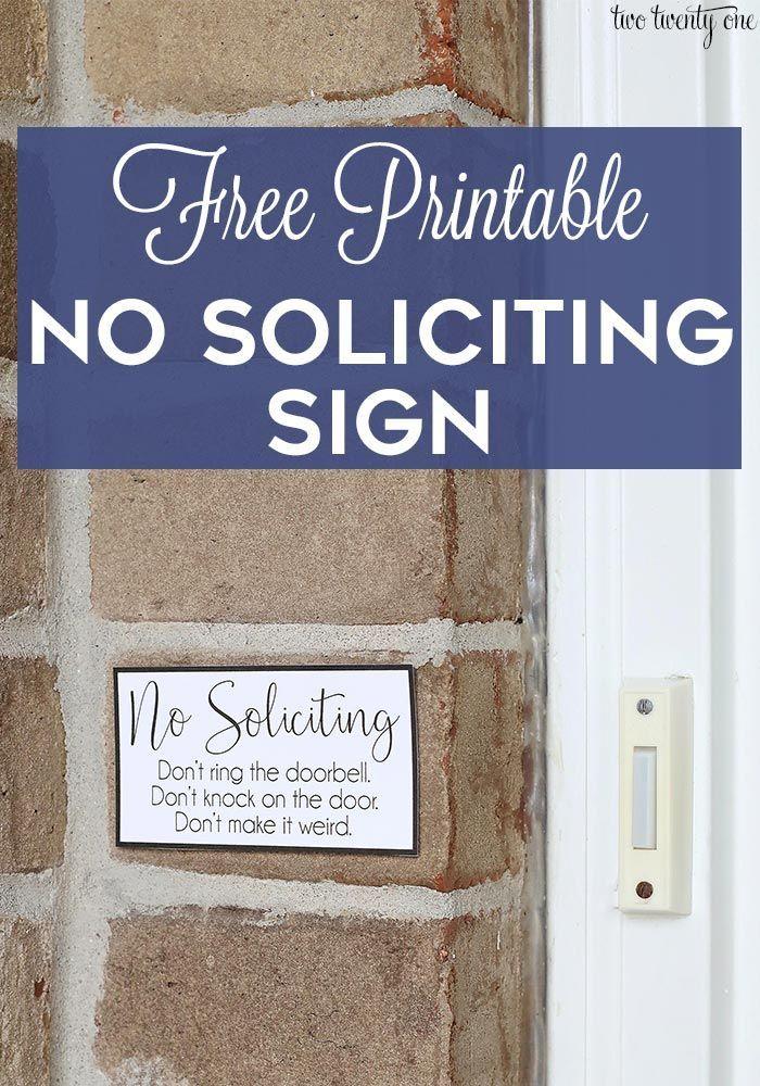 No Soliciting Sign Free Printable No Soliciting Signs No Solicitors Sign No Soliciting