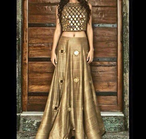 #westernfashiondresses #westernLehengadesigne #LatestwesternLehengapatterns #StylishLehengaonline # Maharani Designer Boutique  To buy it click on this link :  http://maharanidesigner.com/Anarkali-Dresses-Online/western-dresses/ Rs.10000 ( top readymate) Fabric-semi khadi Miror work.on skirt For any more information contact on WhatsApp or call 8699101094 Website www.maharanidesigner.com Maharani Designer Boutique's photo.