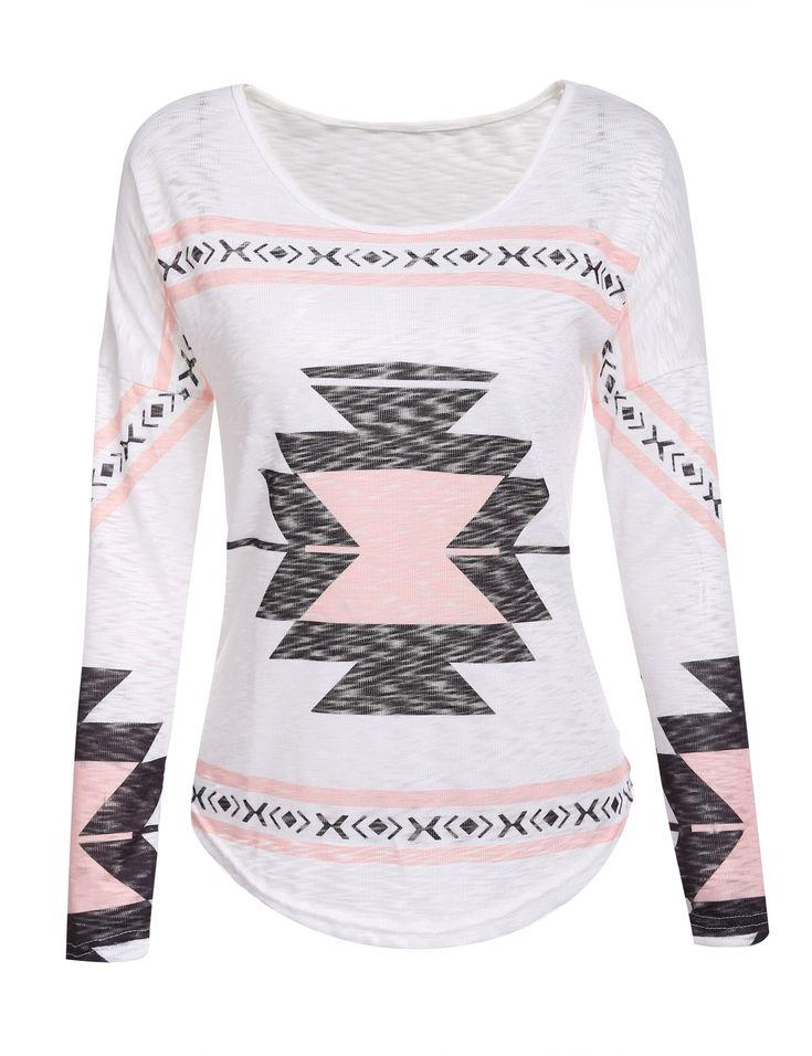Lightweight Aztec printed T-shirt