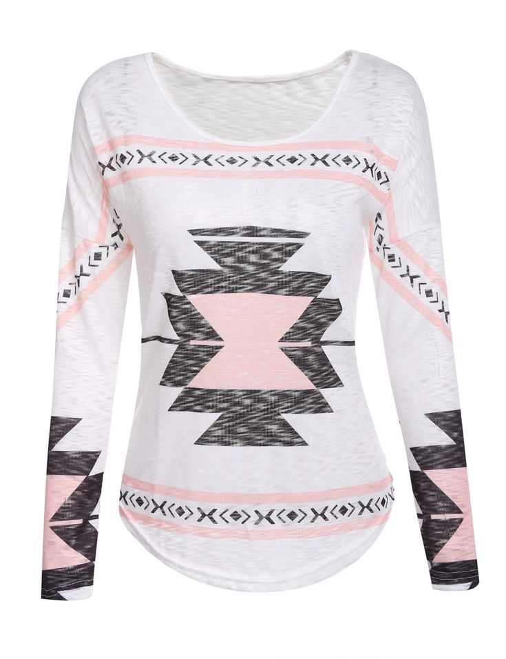 Lightweight Aztec printed T-shirt
