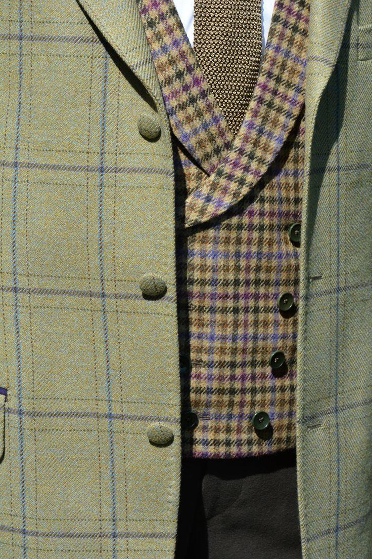 Burnett Tweed Jacket with Constable Tweed Waistcoat - Bookster Tailoring