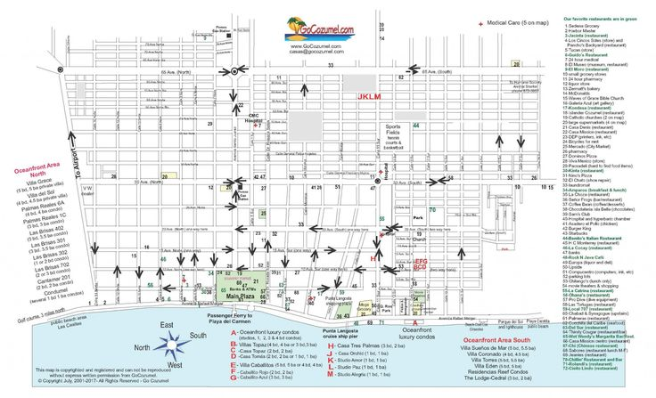 Cozumel street map