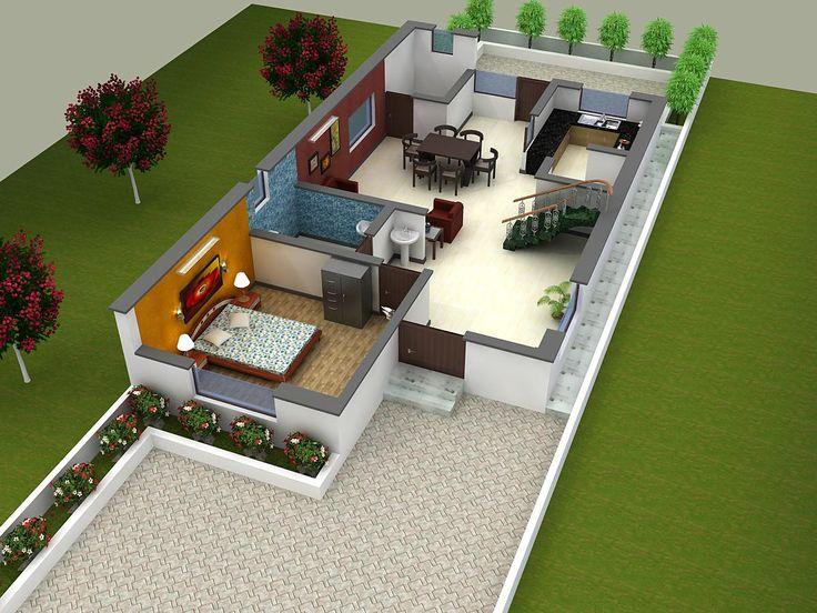 30 best 3D Floor Plan images on Pinterest Blueprints for homes