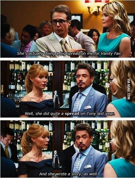 Tony Stark: Master of the one liner