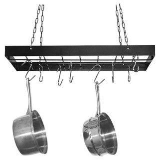 <strong>Fox Run Craftsmen</strong> Rectangular Hanging Pot Rack