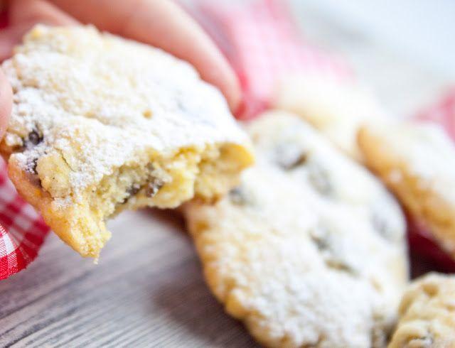 Italské vánoční sušenky s rozinkami