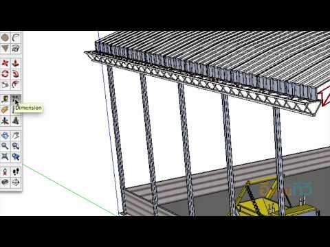 sketchup : โครงสร้างอาคารโรงงาน ตอนที่ 9 - YouTube