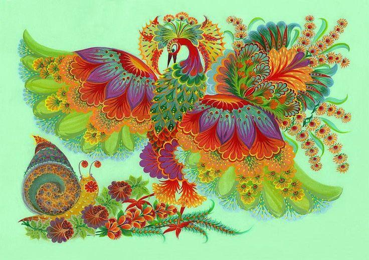 Невероятная роспись Елены Скицюк - Ярмарка Мастеров - ручная работа, handmade
