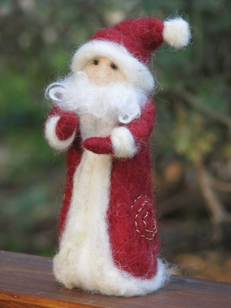 Needle felted Santa Claus Waldorf inspired Christmas home decoration. $39.00, via Etsy.