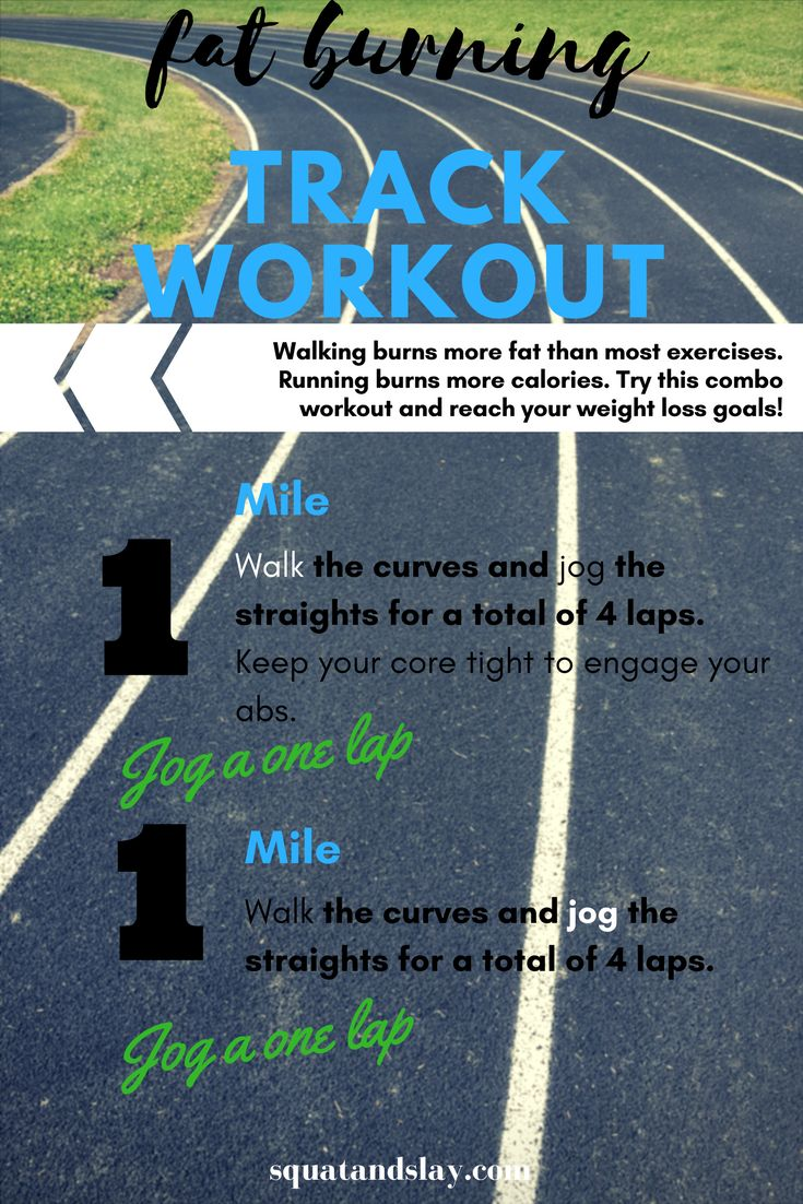 Find a local school with a track to do this mega calorie-burning cardio workout!