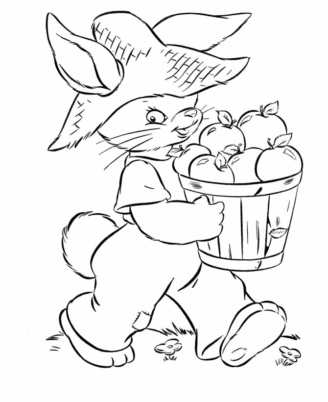 Easter Coloring Pages This Easter Bunny coloring page