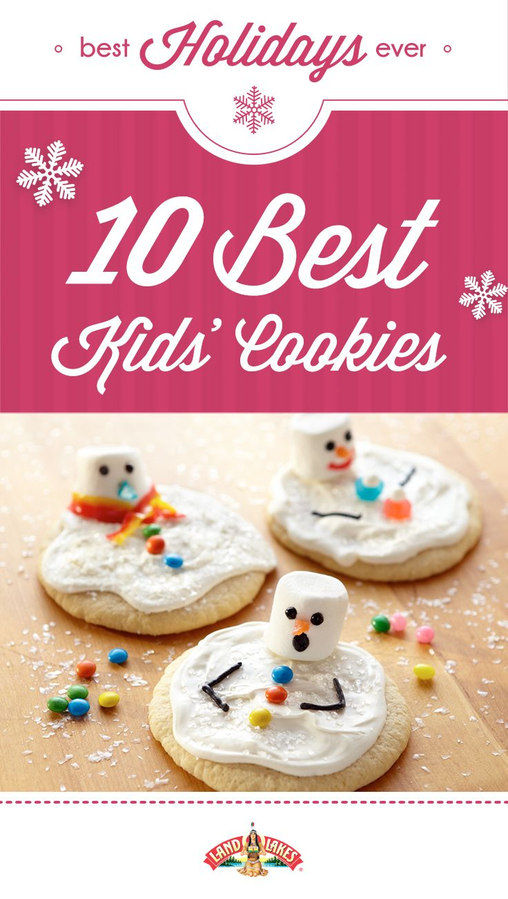 Get the kids together and make some magic in the kitchen: melting snowman, holiday mice, peppermint sleds and more.