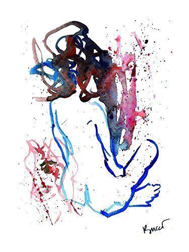 """""""Viso"""" Acquerello 18x24 cm - 2012: Amazon.it: Handmade"""