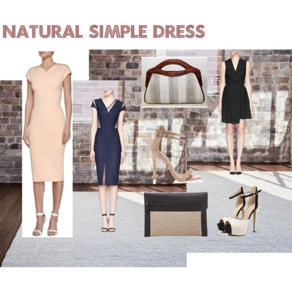 Natural Simple Dress Victoria Beckham by ve-ethnic-channel on Polyvore featuring Victoria Beckham and fashionset