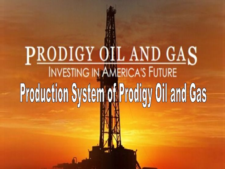 Production system of prodigy oil and gas by Sathyam sen via slideshare