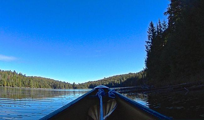 Delano Lake, looking north east towards lone campsite