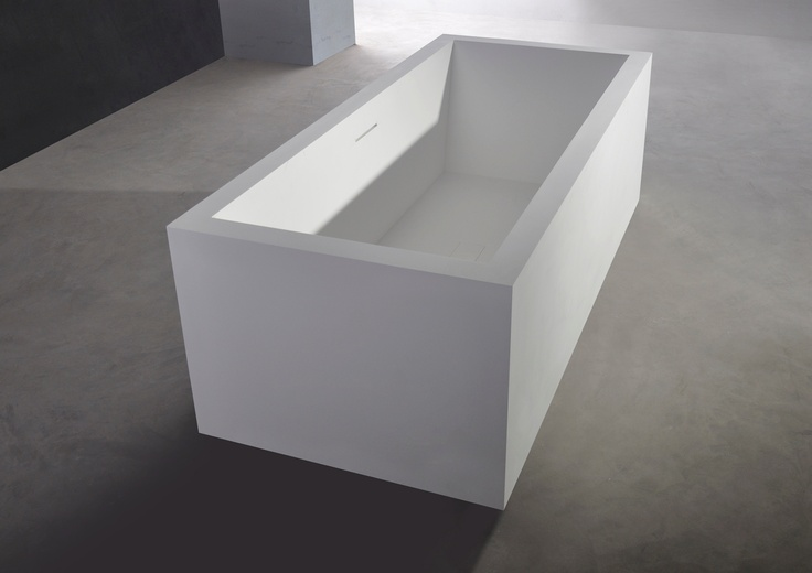 Description: Freestanding  bathtub  Material: Solid Surface  white matt  Code:1006018  Model: SolidVITAS  Size:180 x 80 x 58 (h ) CM