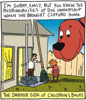 """The Argyle Sweater"" by Scott Hilburn ~ On Pooper Scooper Duty"
