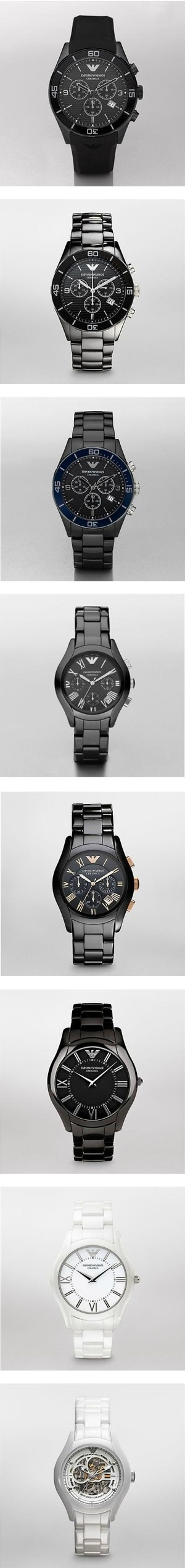 """Men Armani Ceramic watches"" by isabelmarantsneakers on Polyvore"