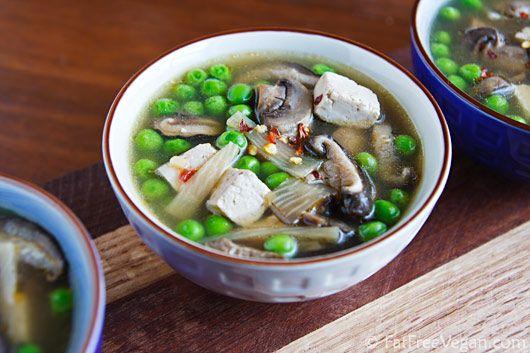 Slow-Cooker Hot & Sour Soup. #vegan #healthy