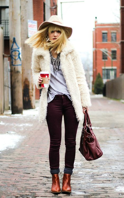 White Shaggy fur is EVERYTHING this winter. #winterwear #style #fashion