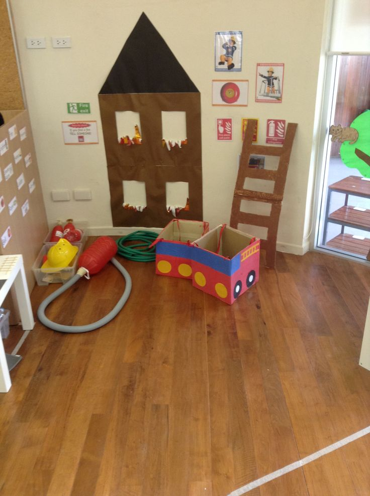 fire station dramatic play for students to practice in case they are in a house fire. Early Learning Standard: 13.A.Ka Begin to understand and use basic safety practices.