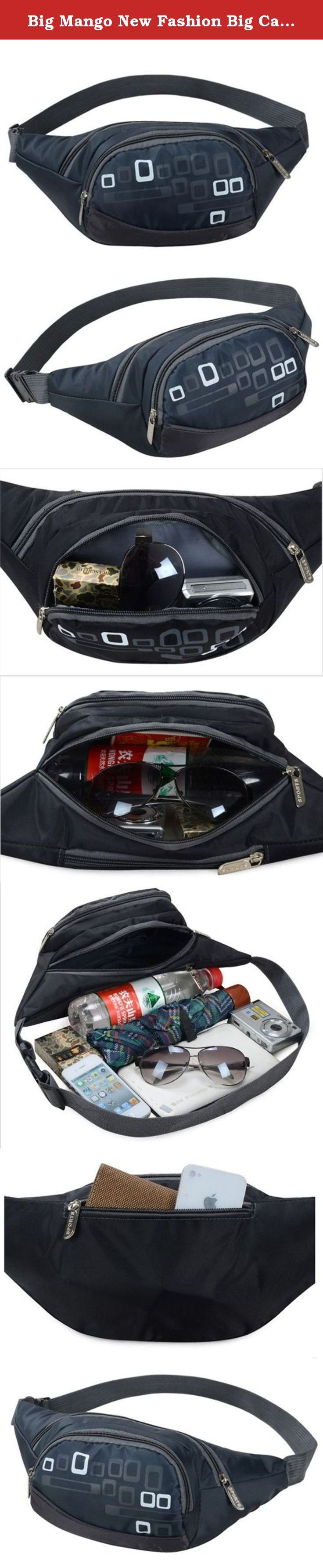 Big Mango New Fashion Big Capacity Womens Sports Bag 3 Zipper Pockets Waist Bag Fanny Chest Pack with Cell Phone Pouch & Automatic Umbrella & Small Personal Stuffs for Both Men and Women Use - Dark Blue. Good quality nylon cloth and fine workmanship,great bag for carrying personal stuffs,such as wallets,keys,cell phone and walkman,automatic umbrella,best organizer for travlling and sports.The multiple zippers design makes it neat and keep your things at hand.Outdoor activities and leisure…