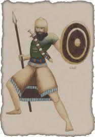 Zodíaco: Dos tiras cruzan el cuerpo y en donde se envaina la espada