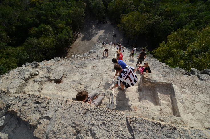All sizes | Nohoch Mul pyramid at Coba | Flickr - Photo Sharing!