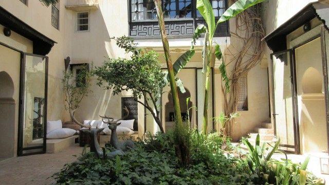 Magnifique riad avec un beau patio arboré. 4 chambres, belle terrasse, l'un des rares riad à proposer un garage intégré