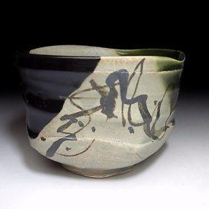 japanese tea bowl | OM3-Japanese-Oribe-style-tea-bowl- & 278 best Japanese Pottery images on Pinterest | Ceramic art Ceramic ...