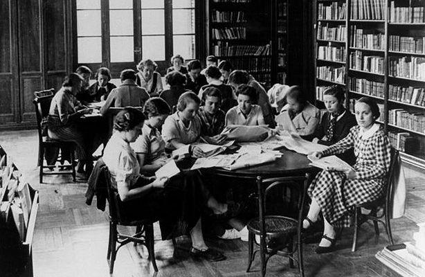 Biblioteca de la Residencia de Señoritas en C/Miguel Ángel 8, Madrid - Archivo Residencia de Estudiantes