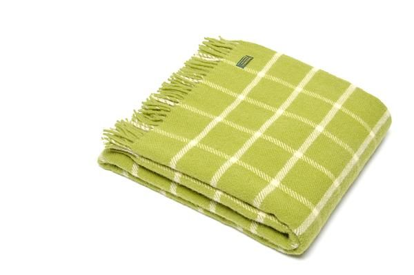 Tweedmill Pure New Wool Chequered Throw / Blanket