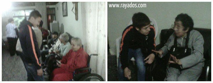 Comparten tiempo y anécdotas los #Rayados Sub 15 en su visita de hoy al Asilo de Ancianos María Esperanza Nuestra, sucursal Alta Vista. #ESR