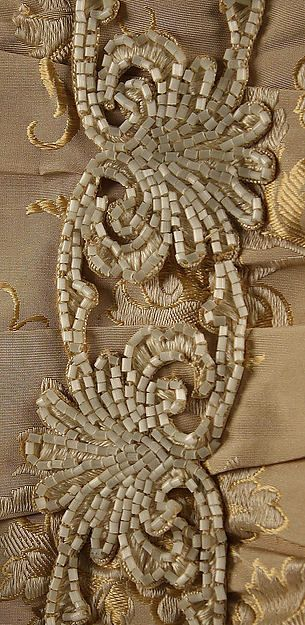 Dinner dress Mon. Vignon  (French) Date: 1875–78 Culture: French Medium: silk, glass