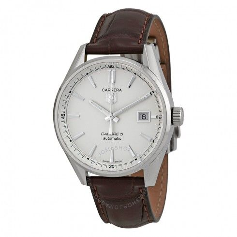 Tag Heuer Carrera Automatic Silver Dial Men's Watch WAR211BFC6181