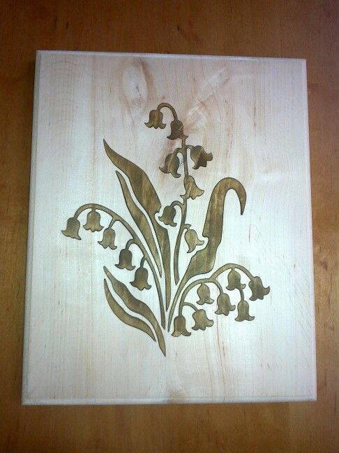 Wood picture flower