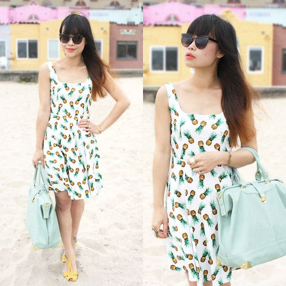 Mod Cloth Pineapple Print Dress, Zero Uv Sunglasses, Nila Anthony Mint Oversize Satchel, Chelsea Crew Mustard Yellow Sandals