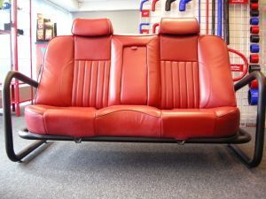 Designer LeatherCar Seat Sofa from Viper Performance #diyfurnitureseat