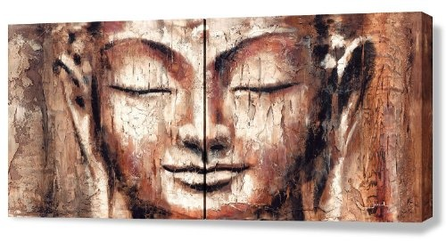 Giclee of Buddha Painting FAITH 48x24inch (2 panels)